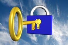 key lås Arkivbilder