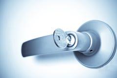 key lås för dörr Arkivfoton