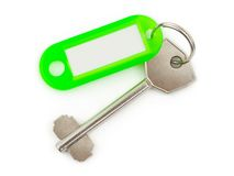 Key with label Stock Photos