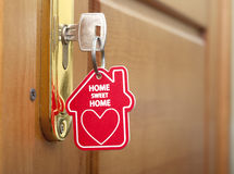 Key with label home Stock Photography