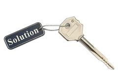 Key with label Solution Stock Photos