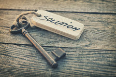 Key and label Royalty Free Stock Images