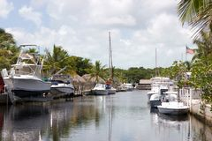 Key Largo Canal Stock Photo