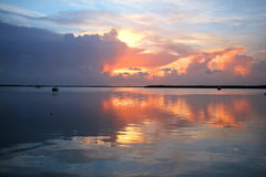 Key Largo. A sunset on the bay side of Key Largo Florida, USA Royalty Free Stock Photo