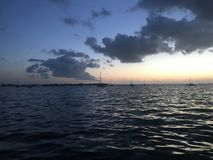 Key Largo Sunset. Key Largo, FL Sunset Gulfside Stock Photo