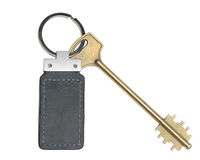 Key with leather trinket Stock Images