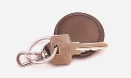 Key with leather trinket Stock Photos