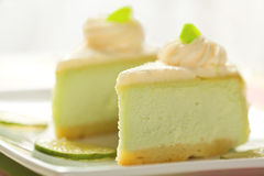 Key Lime Cheesecake Stock Photography