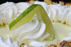 Key lime pie close up stock photography
