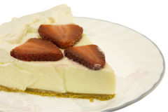 Key lime pie closeup Stock Photo