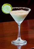 Key lime pie martini royalty free stock images