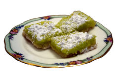 Key Lime Squares Stock Photo