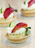 Key lime tart Royalty Free Stock Images