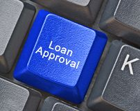 Key for loan approval Royalty Free Stock Photography