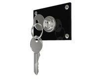 Key in the lock Royalty Free Stock Images