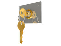 Key in the lock Stock Photography
