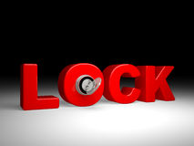 Key and the lock Royalty Free Stock Images