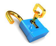 Key and lock Stock Photos