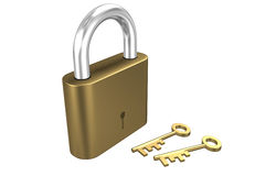 Key Lock Royalty Free Stock Photography