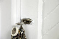 Key in the lock Royalty Free Stock Photos