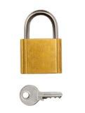 Key and lock stock photo
