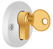 The key in the lock Royalty Free Stock Images