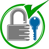 Key lock royalty free illustration