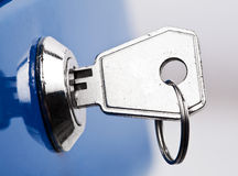 Key in lock Stock Image