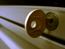 Key in lock Stock Photography