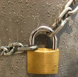 Key lock. Locked with a chain Royalty Free Stock Image