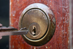 Key in lock Royalty Free Stock Photo