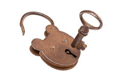 Key And Lock (With Clipping Path) Royalty Free Stock Photography