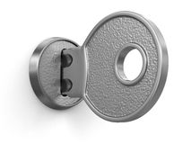 Key and lock (clipping path included) Royalty Free Stock Photo