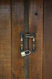 Key lock close door. Two key lock close door stock photo