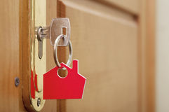 Key in a lock Stock Image