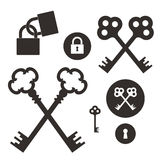 Key. Lock. Icon set Stock Photos