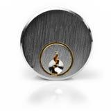 Key Lock Isolated On White Royalty Free Stock Image