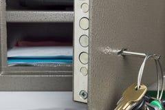 Key in Lock Safety Deposit Box Royalty Free Stock Image