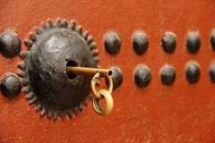 Key in Lock Royalty Free Stock Images