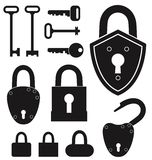 Key. Lock. Vector illustration (EPS 10 Royalty Free Stock Image