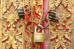 Key locked. Church door and key locked Stock Photography