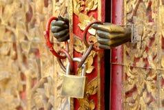 Key locked. Church door and key locked Stock Images