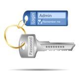 Key login form Royalty Free Stock Photos