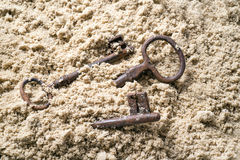 Key lost in sand. Stock Photography