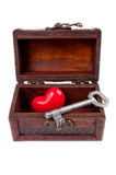 Key for love Royalty Free Stock Image