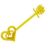 The key is love. Royalty Free Stock Photography