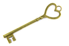 Key of Love. The key of love isolated on a white background Royalty Free Stock Photos
