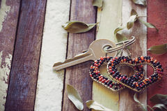 Key of love. Style in the past Royalty Free Stock Image