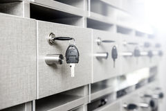 Key and mailbox Stock Photo