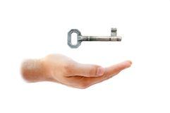 Key and male hand Royalty Free Stock Photography